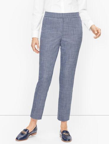 Blended Tweed Slim Ankle Pants