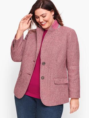 Shetland Wool Blazer - Houndstooth