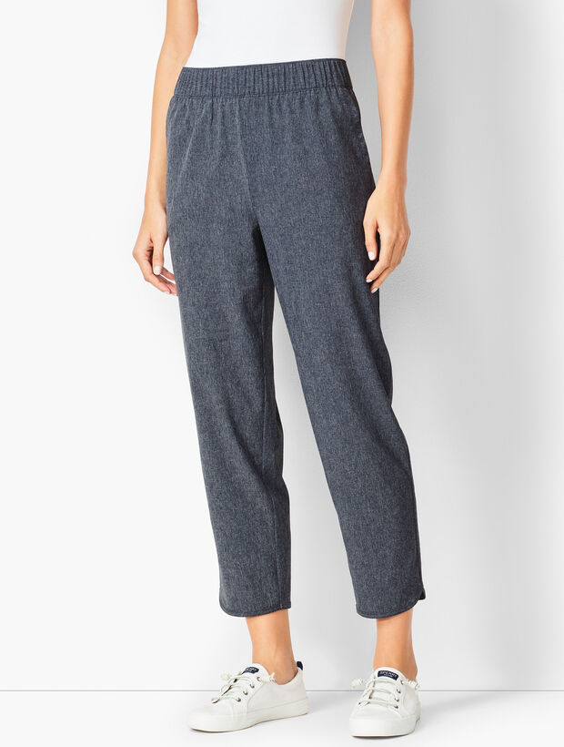 Lightweight Stretch Crops - Heathered
