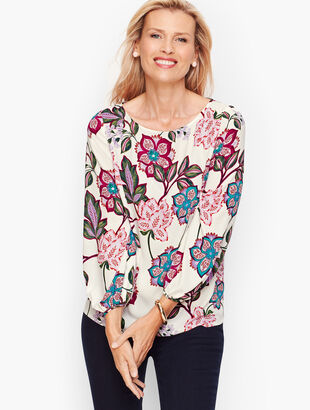 Poet Sleeve Top - Floral