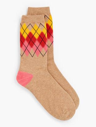 Argyle Heather Trouser Socks