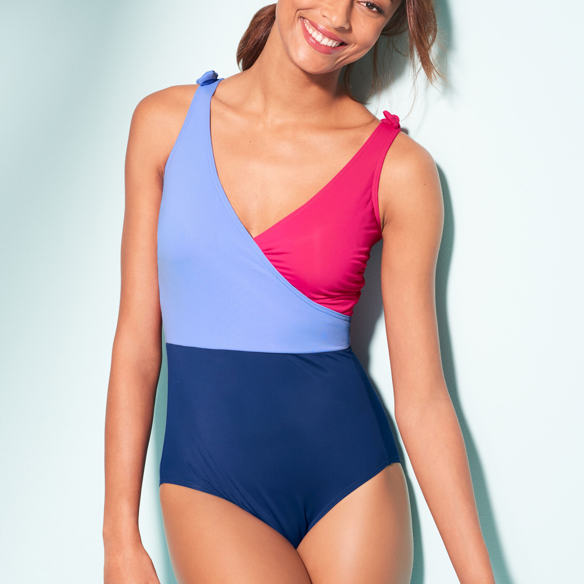 009f738897ab8 Tie-Shoulder One-Piece Swimsuit