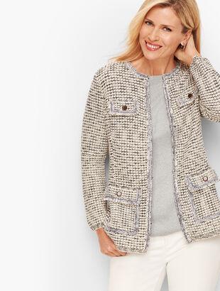 Jacquard Sweater Jacket