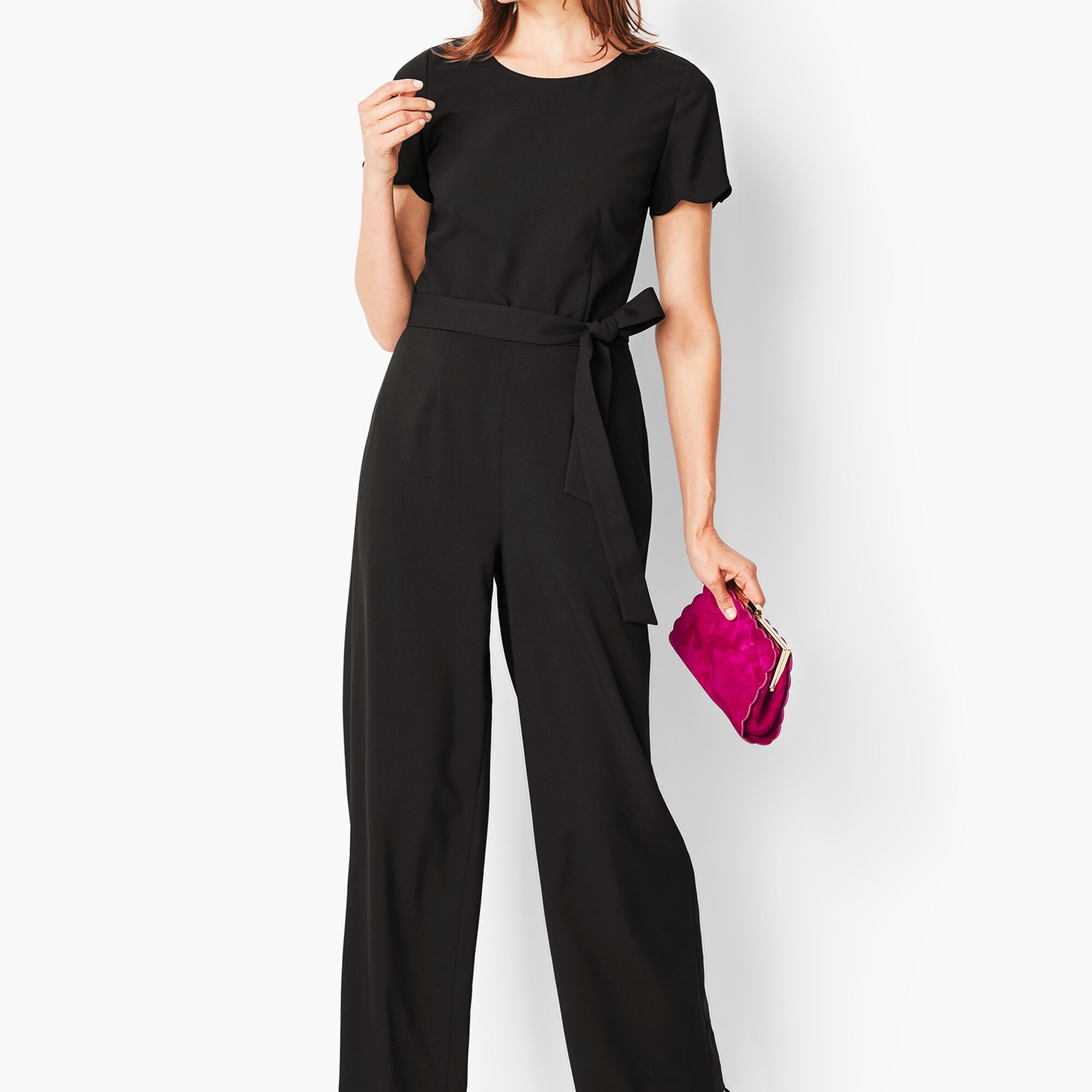 4fa894cd189 Tailored Crepe Wide-Leg Jumpsuit