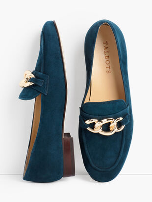 Cassidy Chainlink Loafers - Suede