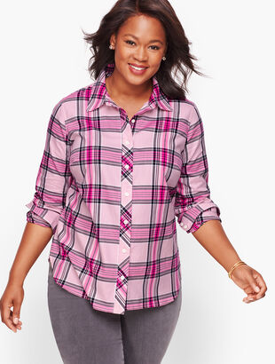 Classic Cotton Shirt - Pink Quartz Plaid