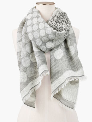 Shimmer Dots & Snowflakes Oblong Scarf