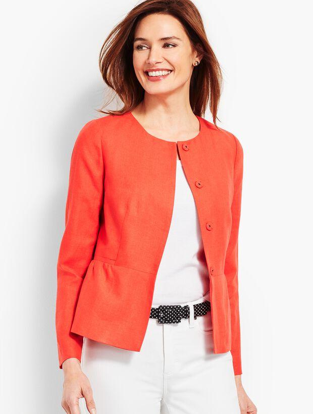 Linen Peplum Jacket