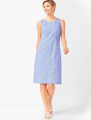 Lemons & Gingham Shift Dress