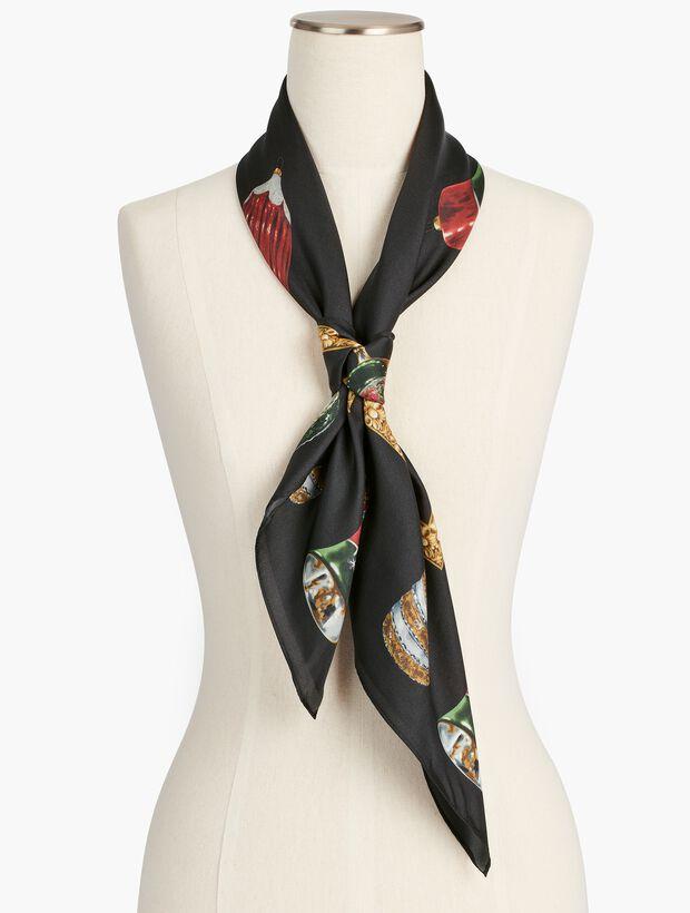 Holiday Ornament Silk Scarf