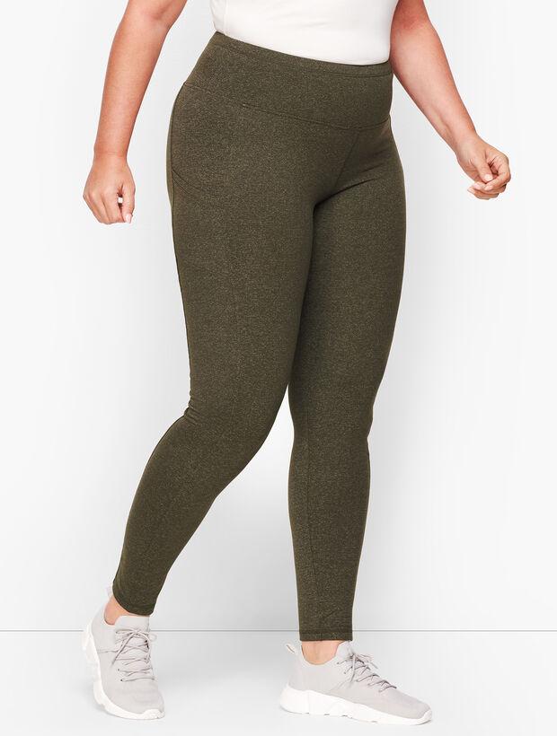 Textured Slip Pocket Leggings