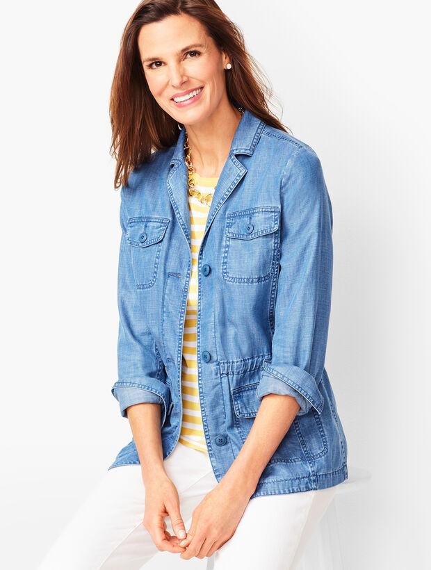 Cotton Casual Jacket - Tencel(R) Blend