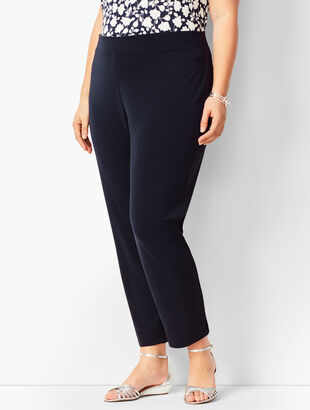 Knit Jersey Tapered Ankle Pants