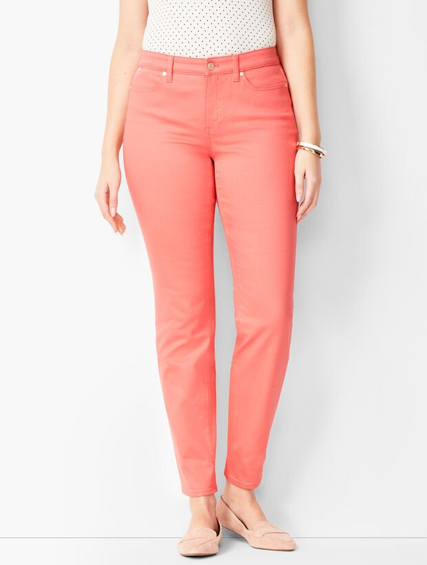 Slim Ankle Jeans - Curvy Fit/Coastal Coral