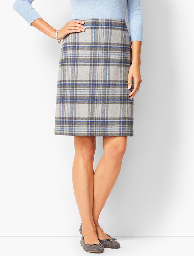 618b7fb5c6 Twill A-Line Skirt - Brushed Plaid