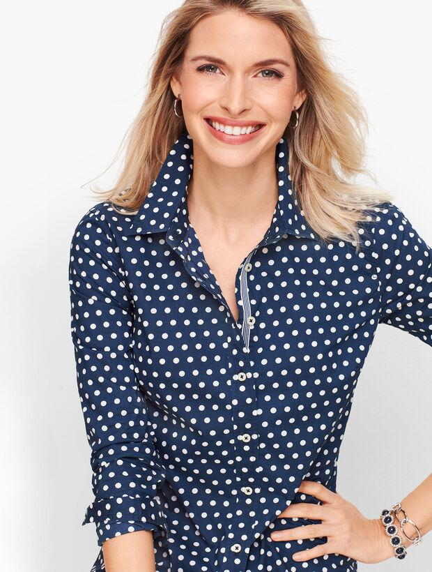 Classic Cotton Shirt - Simple Dot