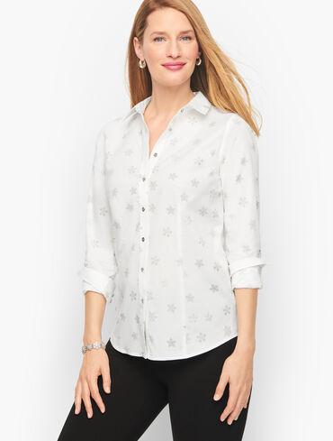 Perfect Shirt - Silver Snowflakes