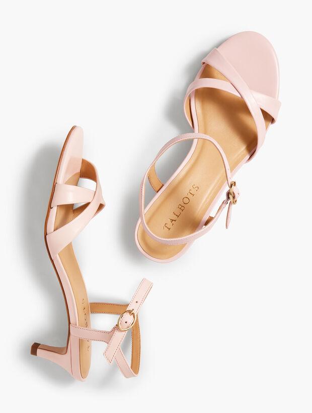 Pila Crisscross Leather Sandals - Solid