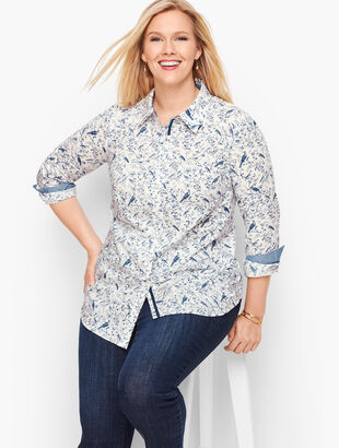 Classic Cotton Shirt - Bird Print
