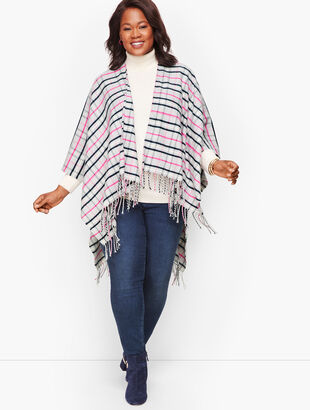 Plus Size Arctic Plaid Ruana