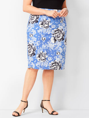 Rose Pencil Skirt