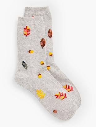 Falling Leaves Trouser Socks