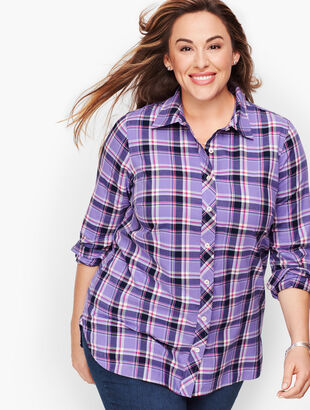 Classic Cotton Shirt - Winter Orchid Plaid
