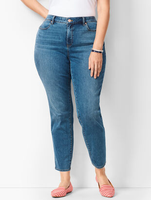 Plus Size Slim Ankle Jeans - Curvy Fit - Equinox Wash