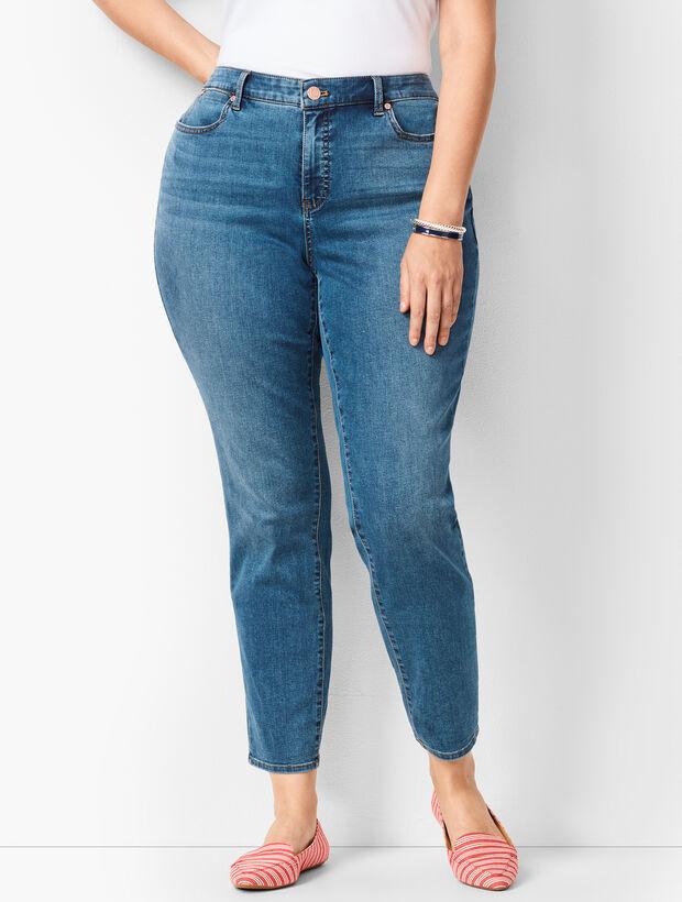 Plus Size Slim Ankle Jeans - Curvy Fit - Equinox Wash