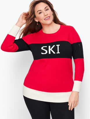 "Colorblock ""Ski"" Sweater"