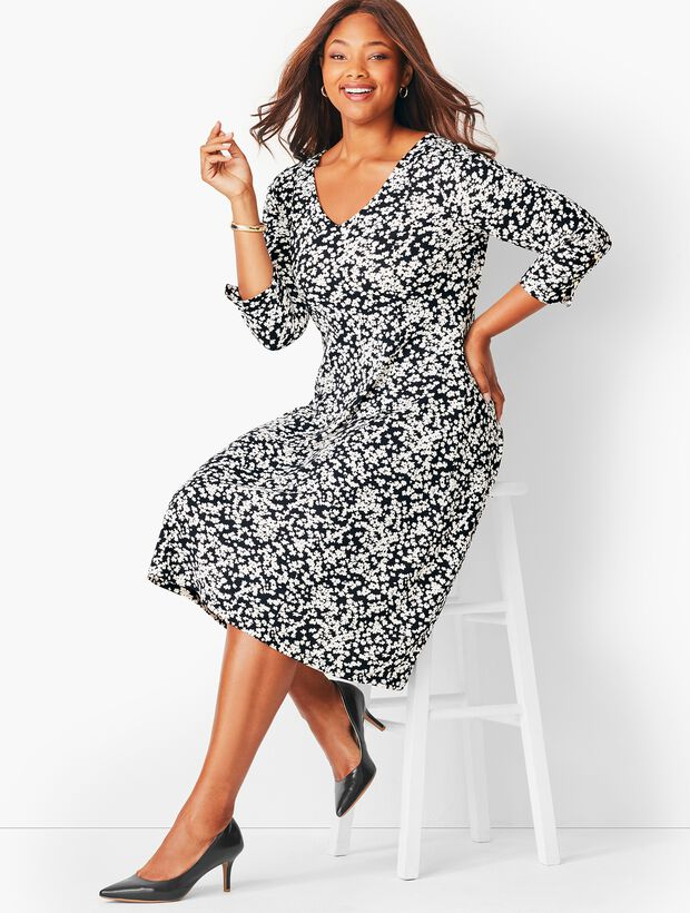 Plus Size Petal Fit & Flare Dress | Talbots