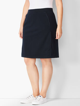 Piped Yoga Skort - Solid