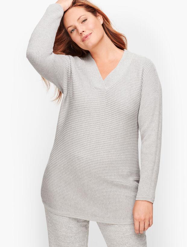Shaker Stitch Dolman Sleeve Sweater