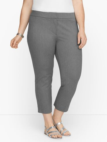 Plus Exclusive Talbots Chatham Crop Pants - Mélange