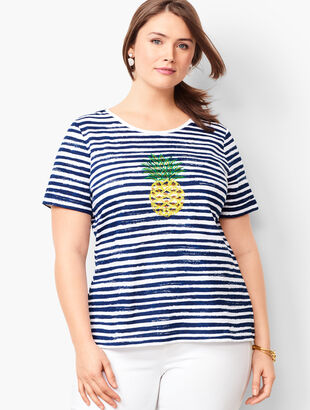 Sequined Pineapple Tee