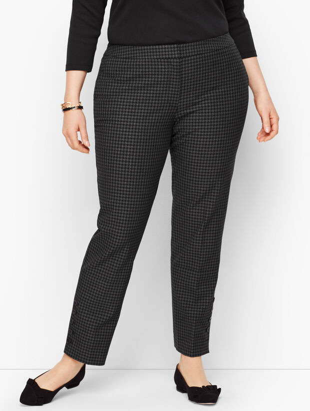Plus Size Talbots Hampshire Button-Hem Ankle Pants - Houndstooth