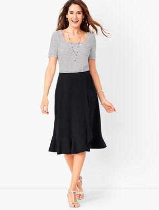 Jersey Cascading Midi Skirt