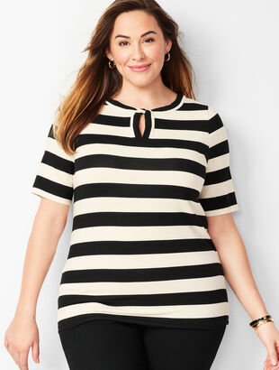 Twisted Keyhole Top - Stripe