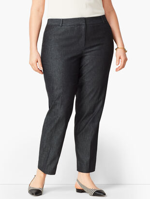 Talbots Hampshire Ankle Pants - Black Denim