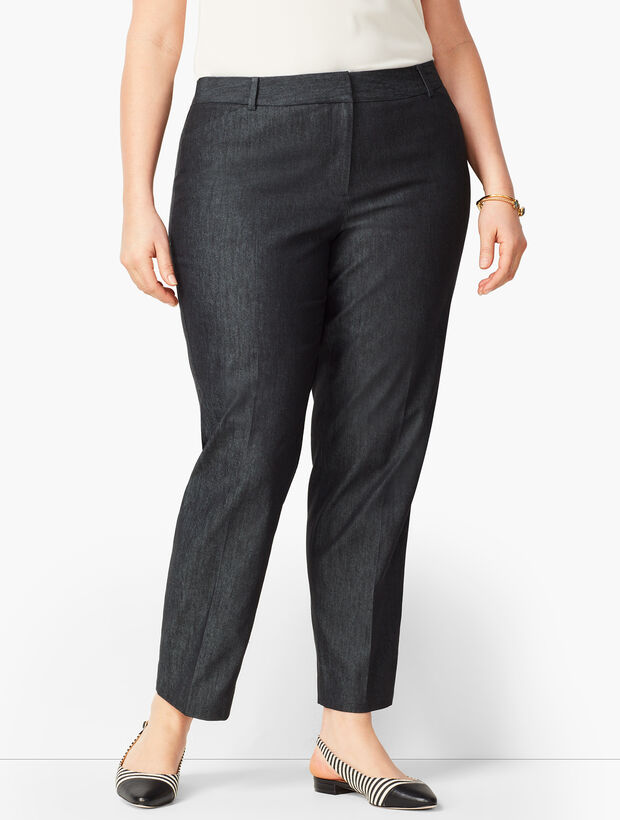 Talbots Hampshire Ankle Pants - Black Denim