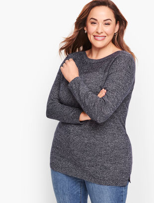 Contrast Stitch Sweater - Marled