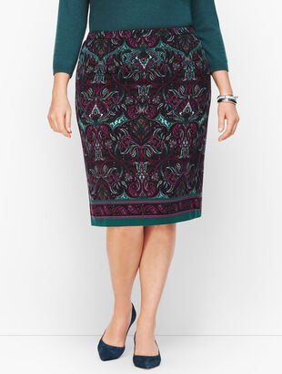 Paisley Pencil Skirt