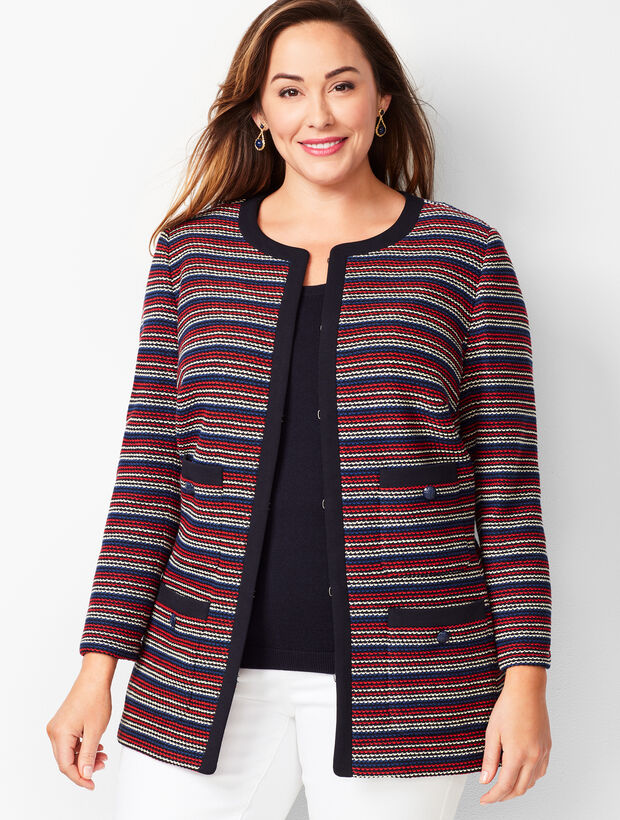Bouclé Stripe Jacket