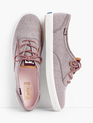 Keds(TM) Champion Sneakers - Ticking Canvas
