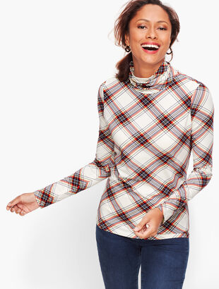 Long Sleeve Turtleneck Tee - Plaid