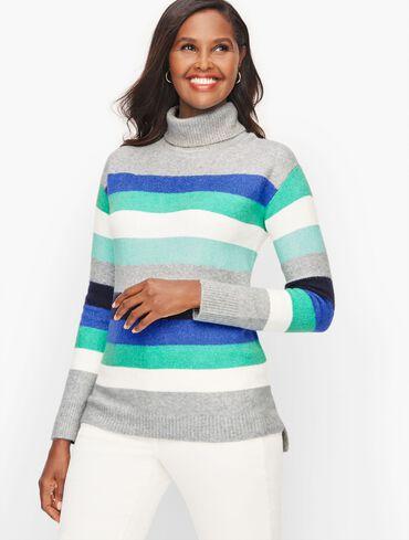 Turtleneck Multi Stripe Tunic