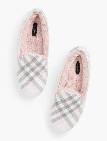 Plaid Fireside Slippers