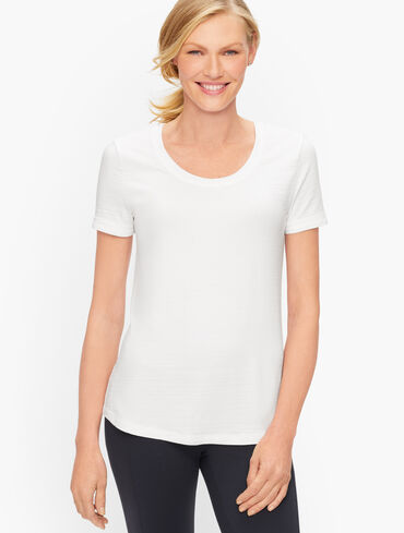 Cotton Blend Jersey Tee - Solid