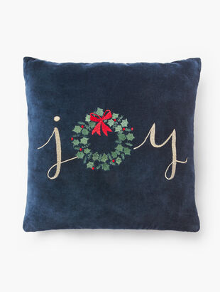 Joy Wreath Pillow