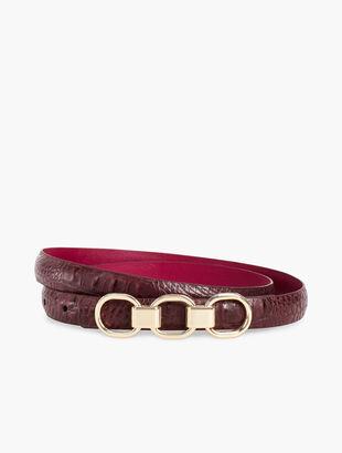 Croc-Embossed Belt